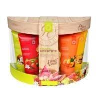 Grace Cole - Набор для тела Tropical Smoothie (гель для душа очищающий, освежающий 4 х 100 ml + мыло для тела 100 g + мочалка) с фруктовыми ароматами