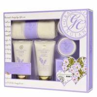 Grace Cole - Набор подарочный Absolute Renewal (гель для душа 75 ml + лосьон для тела 75 ml + кристалы для ванны 80 g + бомбочка для ванны 2 х 25 g + салфетка) с ароматом лаванды