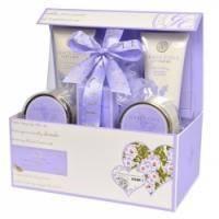 Grace Cole - Набор подарочный Definitive Pamper Collection (гель для душа 150 ml + лосьон для тела 100 ml + пена для ванны 150 ml + кристалы для ванны 100 g + мыло для тела 100 g + мочалка) с ароматом