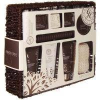 Grace Cole - Набор подарочный Relaxation Sanctuary (гель для душа 100ml+лосьон для тела 10 0ml + пена для ванны 100 ml + скраб для тела 100 ml + бомбочки для ванны 3 х 80 g + мочалка + деревянные масс