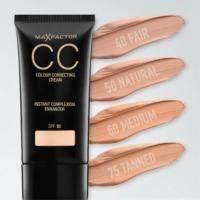 Тональній крем для лица увлажняющий Max Factor - CC Colour Correcting Cream SPF10 №75 Tanned/Бежево-ванильный - 30 ml