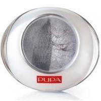 Тени для век 2-цветные запеченные Pupa - Luminys №06 Серый/серебрянный - 2.2 g