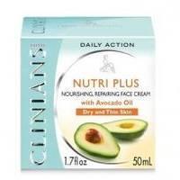 Крем для лица питательный восстанавливающий с маслом Авокадо для сухой и хрупкой кожи Clinians - Nutri Plus - 50 ml (3366)