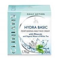 Крем для лица ежедневный увлажняющий с Минералами и растительной водой Белого чая Clinians - Hydra Basic - 50 ml (4423)