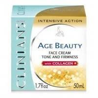 Крем-лифтинг тонизирующий для зрелой кожи лица с коллагеном Clinians - Age Beauty -  50 ml (10685)