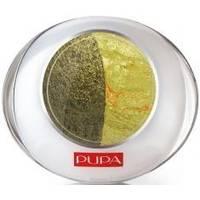 Тени для век 2-цветные запеченные Pupa - Luminys №50 Болотное-зеленый/зеленое золото - 2.2 g