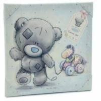 Картинка голубая MTY (Me To You) - Мишка везет ослика за веревочку (арт. G92Q0007)