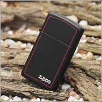 Зажигалка Zippo - Black Matte With Zippo-Border (1618 ZB)