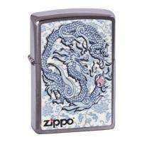 Зажигалка Zippo - Dragon Reg Brush Chrome (200.593)