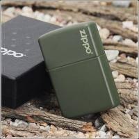 Зажигалка Zippo - Green Matte With Logo (221ZL)