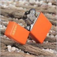 Зажигалка Zippo - Orange Matte With Logo (231ZL)