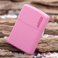 Зажигалка Zippo - Pink Matte With Logo (238ZL)
