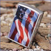 Зажигалка Zippo - Made in USA Flag (24797)