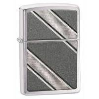 Зажигалка Zippo - Double Diagonal Brushed Chrome (24872)