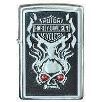 Зажигалка Zippo - Harley Davidson W/Red Crystal (28267)