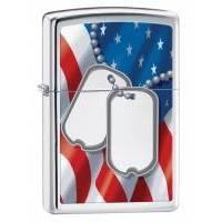 Зажигалка Zippo - Flag & Dog Tag (28291)