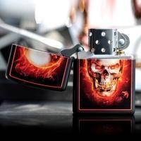 Зажигалка Zippo - Burning Skull (28307)
