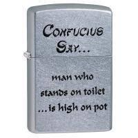 Зажигалка Zippo - Confucius Say Toilet (28459)