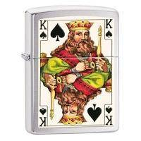 Зажигалка Zippo - King Brushed Chrome (28489)