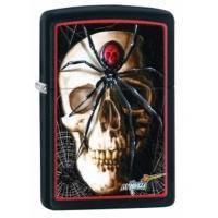 Зажигалка Zippo - Mazzi Skull and Spider (28627)