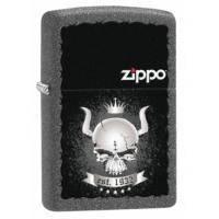 Зажигалка Zippo - Skull Crown Iron Stone (28660)
