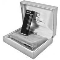 Pierre Cardin - Зажигалка газовая кремниевая черный лак/серебро (арт. MF-64C-04)