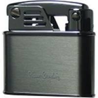 Pierre Cardin - Зажигалка газовая кремниевая Черный лак с серебром (арт. MFH-105B-03)