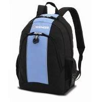 Wenger - Рюкзак подростковый черный/голубой 32 x 14 x 45 см (арт. 17222315)