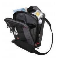 Wenger - Сумка дорожная для документов Vertical boarding bag черный/серый 19 х 10 х 28 см (арт. 1092238)