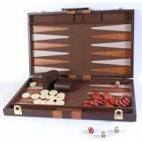 Настольная игра - Нарды Duke в кожанном кейсе 45 х 45 см (арт. 6601L)