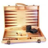Настольная игра - Нарды Duke в деревянном кейсе, светлый тик, 45 x 45 см (арт. AD1802-01)