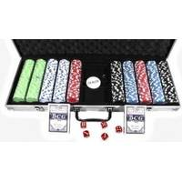 Настольная игра - Набор для покера Duke на 500 фишек, 2 колоды карт в алюминиевом кейсе (арт. CG-11500)