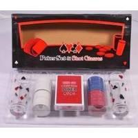 Настольная игра - Набор для покера Duke 100 фишек, 2 рюмки (арт.PG22100)