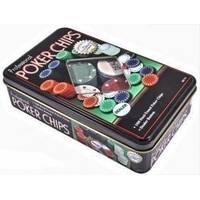 Настольная игра - Набор для игры в покер Duke в оловянном кейсе, 100 фишек (арт. TC11100)
