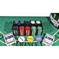 Настольная игра - Набор для игры в покер Duke в оловянном кейсе, 200 фишек, 2 колоды карт (арт. TC04201C)