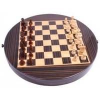 Настольная игра - Магнитные шахматы Duke в коробке из темного дерева 32 x 32 см (арт. CS71L-12)