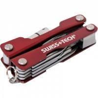 Swiss+Tech - Микро мультитул 8 в 1 красный (ST35000ES)