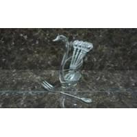 Lessner - Silver Collection Набор вилок десертных 6 шт подставка Лебедь (арт. ЛС99150)
