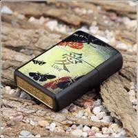 Зажигалка Zippo - Black Matte Love (20839)