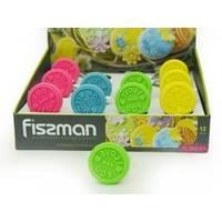 Fissman - Штамп для печенья на деревянной ручке 6 см (арт. PR-7659.BW)