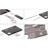 Набор Victorinox - SwissCard - 82 х 54.5 х 4.5 мм, 10 функций черный (0.7133)