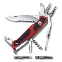 Складной нож Victorinox - Delemont RangerGrip 174 Handyman - 130 мм, 7 функций красно-черный (0.9728.WC)