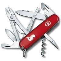 Складной нож Victorinox - Angler - 91 мм, 18 функций красный с логотипом (1.3653.72)