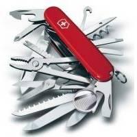 Складной нож Victorinox - SwissChamp - 91 мм, 33 функций красный (1.6795)