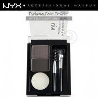 NYX - Тени для бровей Eyebrow Cake Powder Black / Grey ECP01 - 2.65 g