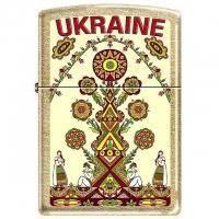 Зажигалка Zippo - Зажигалка украшенная рисунком в украинском народном стиле (207GUT)