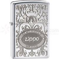 Зажигалка Zippo - Gleaming Patina High Polish Chrome Classic An American Classic (24751)