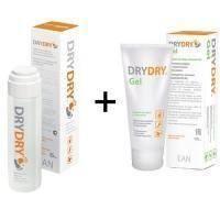 Dry Dry (Драй Драй) от обильного потовыделения - Набор (Дезодорант Dry Dry 35 ml + Увлажняющий заживляющий гель для тела 100 ml)