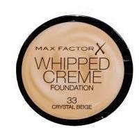 Крем-мусс тональный для лица с матирующим эффектом Max Factor - Whipped Creme Foundation №33 Crystal Beige/Кристально бежевый - 18 ml