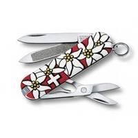 Складной нож Victorinox - Classic - 58 мм, 7 функций красный Edelweiss (0.6203.840)